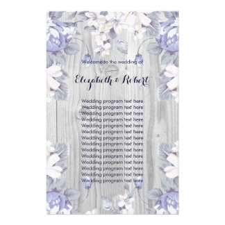 Blue and Grey Flowers Flyer