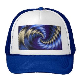 Blue And Grey Spiral Fractal Trucker Hat
