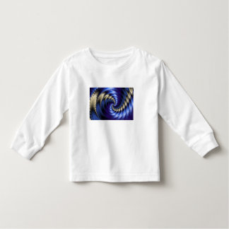 Blue And Grey Spiral Fractal Toddler T-shirt