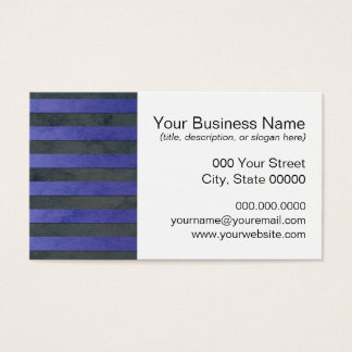 Blue and Grey Stripes Pattern Business Card