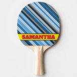 [ Thumbnail: Blue and Grey Stripes + Personalized Name Paddle ]