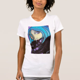 Blue and Her Cat T-Shirt