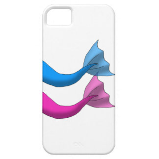 Blue and Hot Pink Mermaid Tails iPhone SE/5/5s Case