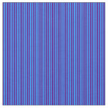 [ Thumbnail: Blue and Indigo Lined/Striped Pattern Fabric ]