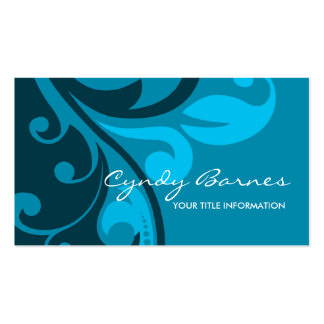 Blue and Indigo Swirls Business Card