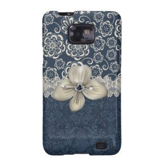Blue and Ivory Chic Samsung Galaxy Phone Case Samsung Galaxy S Covers