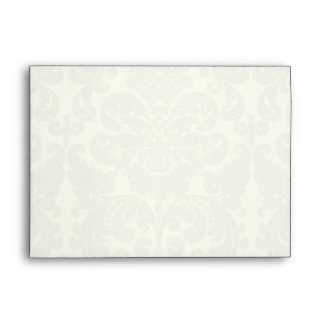 "Blue and Ivory Damask A7 Envelope for 5""x7"" Sizes"