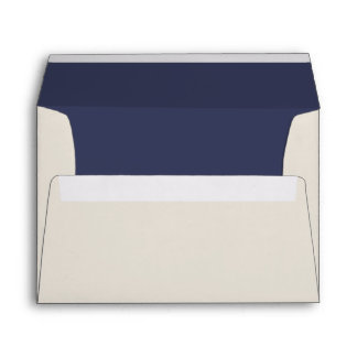 Blue and Ivory Nautical Theme Wedding Envelope