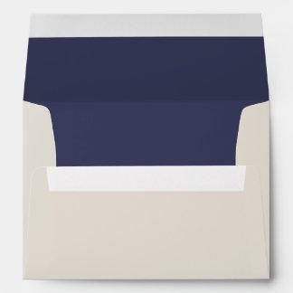 Blue and Ivory Nautical Theme Wedding Envelope