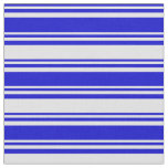 [ Thumbnail: Blue and Lavender Colored Pattern of Stripes Fabric ]