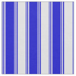 [ Thumbnail: Blue and Lavender Colored Stripes Fabric ]