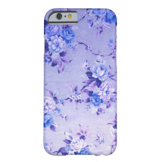 Blue and Lavender Floral Textured Pattern. Barely There iPhone 6 Case
