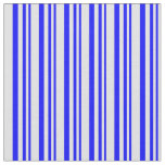 [ Thumbnail: Blue and Lavender Lined Pattern Fabric ]