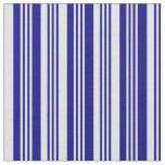 [ Thumbnail: Blue and Lavender Lines Fabric ]