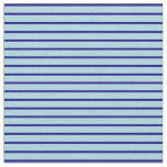 [ Thumbnail: Blue and Light Blue Colored Pattern of Stripes Fabric ]