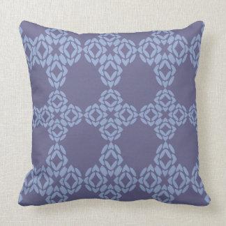 Blue And Light Blue Kaleidescope Throw Pillow