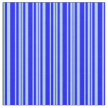 [ Thumbnail: Blue and Light Blue Lined/Striped Pattern Fabric ]