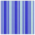 [ Thumbnail: Blue and Light Blue Lines/Stripes Pattern Fabric ]