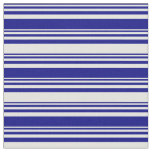 [ Thumbnail: Blue and Light Cyan Colored Striped Pattern Fabric ]