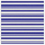 [ Thumbnail: Blue and Light Cyan Lined Pattern Fabric ]