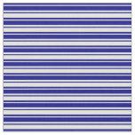 [ Thumbnail: Blue and Light Cyan Pattern Fabric ]