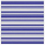 [ Thumbnail: Blue and Light Cyan Pattern of Stripes Fabric ]