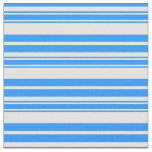 [ Thumbnail: Blue and Light Cyan Stripes Fabric ]