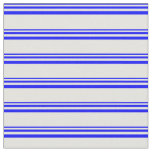 [ Thumbnail: Blue and Light Cyan Stripes Pattern Fabric ]