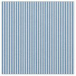 [ Thumbnail: Blue and Light Gray Stripes Fabric ]