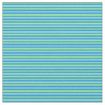 [ Thumbnail: Blue and Light Green Colored Stripes Fabric ]