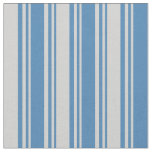 [ Thumbnail: Blue and Light Grey Colored Striped/Lined Pattern Fabric ]