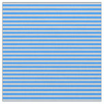 [ Thumbnail: Blue and Light Grey Lines Pattern Fabric ]