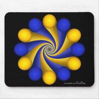 Blue and Light Orange Mouse Pad