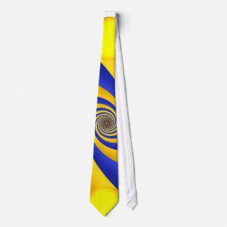 Blue and Light Orange on White Neck Tie