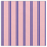 [ Thumbnail: Blue and Light Pink Colored Pattern Fabric ]