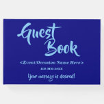 [ Thumbnail: Blue and Light Sky Blue Generic Event Guest Book ]