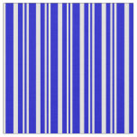 [ Thumbnail: Blue and Light Yellow Colored Pattern of Stripes Fabric ]