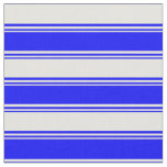 [ Thumbnail: Blue and Light Yellow Stripes/Lines Pattern Fabric ]