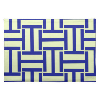 Blue and Light Yellow T Weave Placemat