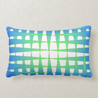 Blue and Lime Points Lumbar Pillow