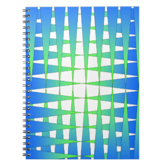 Blue and Lime Points Spiral Notebook