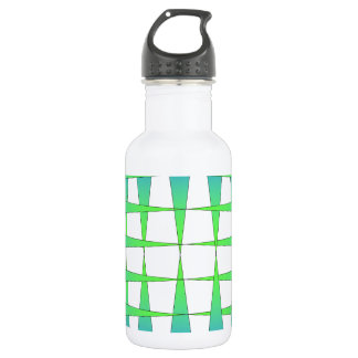 Blue and Lime Points Stainless Steel Water Bottle