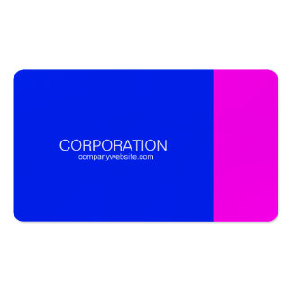 Blue and magenta classy business card