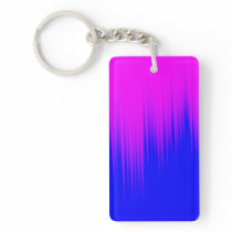 Blue and Magenta Streaks Pattern Keychain