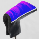 [ Thumbnail: Blue and Magenta Streaks Pattern Putter Cover ]