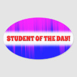 [ Thumbnail: Blue and Magenta Streaks Pattern Sticker ]