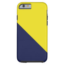 Blue and Maize iPhone 6 case