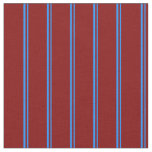 [ Thumbnail: Blue and Maroon Colored Lines Fabric ]