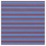 [ Thumbnail: Blue and Maroon Colored Striped/Lined Pattern Fabric ]