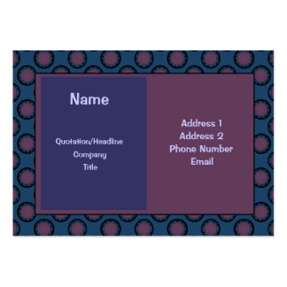 blue and mauve circle pattern business cards